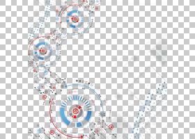 技术欧几里德线,动态时尚技术背景,红色,蓝色和米色电路背景PNG剪图片