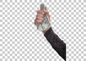 钞票现金美元金钱,拿着钞票PNG clipart手腕,黑色,封装PostScript