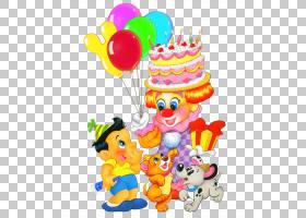 生日蛋糕孩子,生日快乐孩子装饰,小丑和男孩PNG clipart食品,生日
