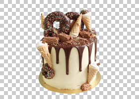 甜甜圈生日蛋糕Ganache巧克力蛋糕滴水蛋糕,巧克力慕斯蛋糕甜甜圈