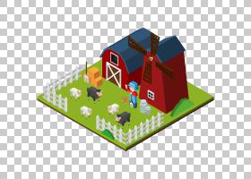 农场3D计算机图形学等距投影,农场模型PNG剪贴画名人,3D计算机图图片