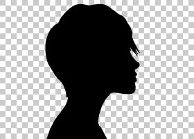 剪影女人摄影,女孩脸PNG剪贴画脸,动物,黑头发,徽标,头,女孩,青春