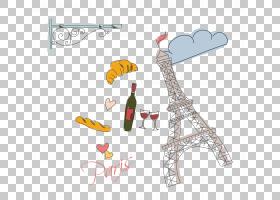 埃菲尔铁塔模式,巴黎绘元素PNG剪贴画水彩绘画,哺乳动物,文本,脊