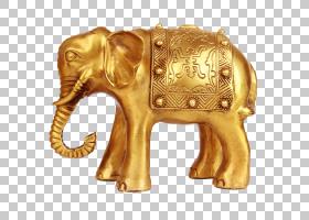 大象,雕像,大象,铜,金大象PNG剪贴画金色框架,动物,黄金,陆地动物