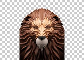 数字艺术插画家3D计算机图形学,狮子PNG剪贴画3D计算机图形学,哺