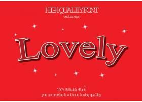 创意红色爱情英文艺术字体设计
