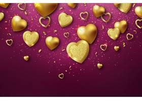 创意浪漫爱心情人节快乐浪漫插画矢量图