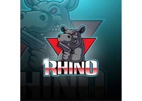 创意卡通动物河马形象个性图标logo
