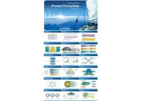 帆船与建筑背景商务总结计划业绩报告幻灯片ppt模板