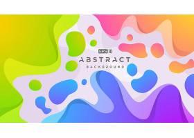 创意抽象3D立体炫彩曲线插画