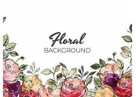 创意你好春天花卉植物插画矢量背景