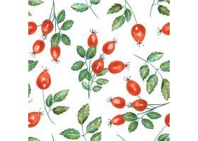 红果与绿叶背景素材