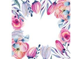 水彩画花卉边框