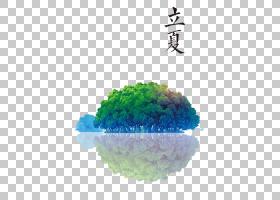 岛屿小树林背景立夏PNG素材