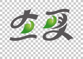 创意绿叶背景立夏PNG素材