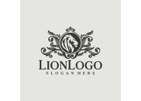 黑色的狮子头像卡通公司商标图片