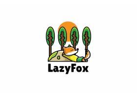卡通狐狸形象创意LOGO设计