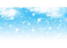 蓝色泡泡背景设计