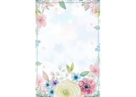 水彩清新花卉结婚季背景图片