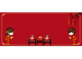 结婚季中国风拜堂背景图片