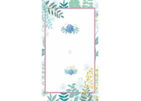 水彩植物花卉结婚季背景图片