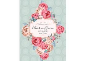 结婚季创意花卉标签背景图片