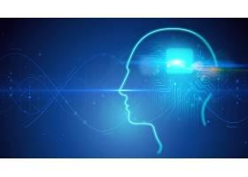 脑部芯片创意大数据信息化科技芯片背景