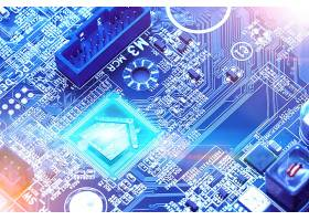 深色质感创意电路板科技芯片背景