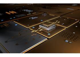 创意电路板信息化科技芯片背景