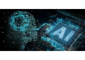创意AI智能电路板信息化科技芯片背景