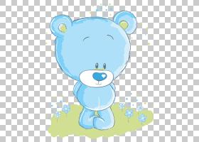 北极熊卡通,卡通熊PNG剪贴画卡通人物,蓝色,哺乳动物,动物,carniv图片