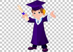 毕业典礼绘画,毕业PNG剪贴画杂项,紫色,孩子,手,其他,男孩,虚构人