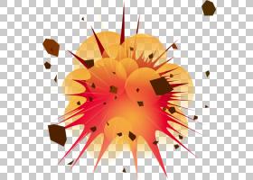 爆炸炸弹,爆炸的PNG剪贴画橙色,电脑壁纸,花卉,卡通,网站,化学品
