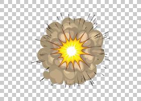 爆轰汽油炸弹炸药,爆炸,创意PNG剪贴画漫画,演讲气球,爆炸,花卉,