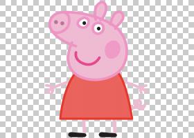 爸爸猪妈咪猪Standee动画片,Peppa猪透明,粉红猪猪PNG剪贴画哺乳