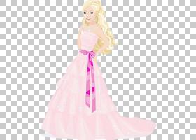 芭比时装设计礼服连衣裙,外国公主PNG剪贴画儿童,时尚,迪士尼公主