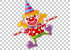 表演小丑马戏团,小丑PNG剪贴画食品,海报,舞台,生日快乐矢量图像,