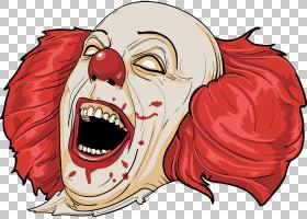 2016小丑目击邪恶的小丑,恐怖小丑PNG剪贴画头,生日快乐矢量图像,