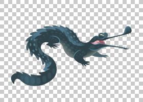 Gharial Crocodiles鳄鱼,鳄鱼PNG剪贴画png材料,动物,龙,生日快乐