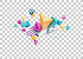 Adobe Illustrator三角形,彩色图案三,立体三角形材料PNG剪贴画颜
