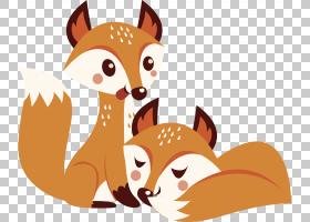 Racibxf3rz Fox秋天,两只小狐狸PNG剪贴画哺乳动物,儿童,动物,car