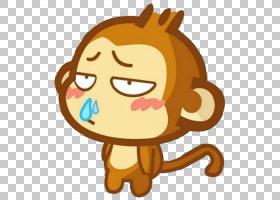 Rhinorrhea Caccola普通感冒鼻子打喷嚏,卡通猴子流鼻涕PNG剪贴画
