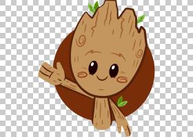 Baby Groot Sticker Telegram Facebook,银河PNG剪贴画的监护人哺