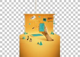 Behance动画,3D创意海报创意移动互联网PNG剪贴画角度,3D计算机图