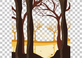 Shulin区秋季海报,森林PNG剪贴画分支机构,电脑壁纸,卡通,剪影,森