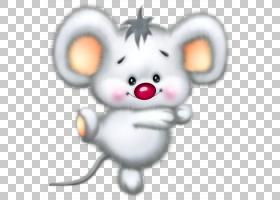 Sniffles电脑鼠标卡通,可爱的白老鼠卡通,灰鼠PNG剪贴画哺乳动物,