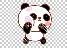 Chibi Anime Cuteness,卡通熊猫PNG剪贴画卡通人物,白色,动物,car图片