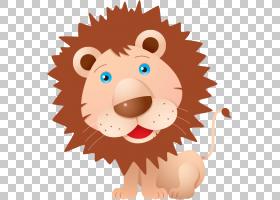 Lionhead兔子卡通绘图,可爱的小狮子PNG剪贴画哺乳动物,动物,猫像