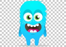 ClassDojo学生课堂,蓝色怪物透明背景PNG剪贴画班级,头,卡通,虚构
