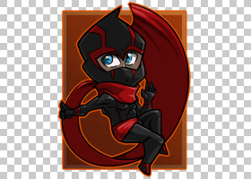 Ninja Fan艺术DeviantArt,Ninja PNG剪贴画超级英雄,橙色,赤壁,卡